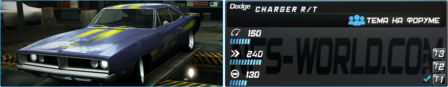 DODGE CHARGER R/T (1969) в Need For Speed World