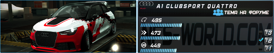 AUDI A1 CLUBSPORT QUATTRO (2011) в Need For Speed World