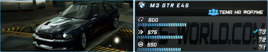 BMW M3 GTR (E46) (2001) в Need For Speed World